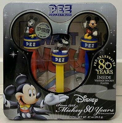 Disney Limited Edition Mickey Mouse 80 Years Pez Collectibles #394702 (BNIB)