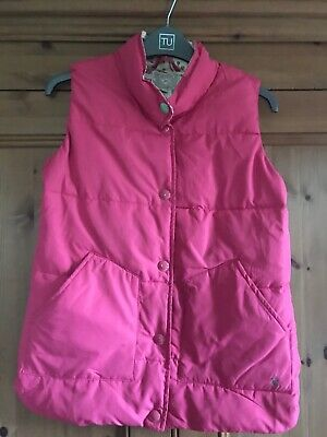 Joules Girls Pink Gilet Age 11/12