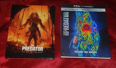 PREDATOR (2018) Official US 4k UltraHD disc w/ limited exclusive BOOK-STYLE CASE