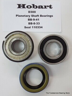 Hobart D300 Planetary Shaft Bearings BB-9-41 W/ Snap Ring BB 8-33 Oil Seal 11034