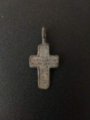 Medieval Byzantine Bronze Cross pendant 14th-15th century - wearable