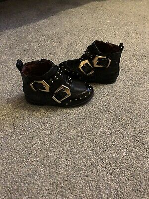 Girls Black River Island Boots Size 5