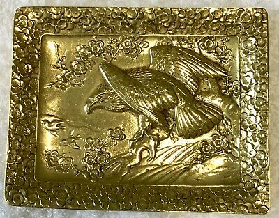 Antique/Vintage Solid BRASS BIRD of PRAY Pin Tray or Ashtray. c.1900