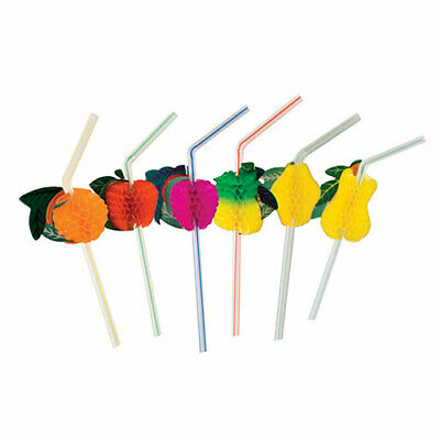Royal Assorted Paper Beach, Party, Hawaiian,  Fruit Straws, Pack of 144, RS950F