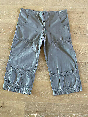 XCVI Women's Crop Drawstring Pants- Size LARGE - Olive Green - NEW