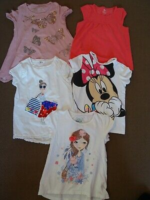 Girls Summer T shirts clothes bundle size age 6 7 8 years Next M&S Mantaray