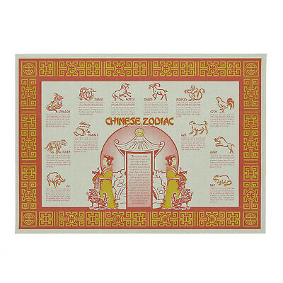 Royal Chinese Zodiac Disposable Placemats, Pack of 1000, PM805-2