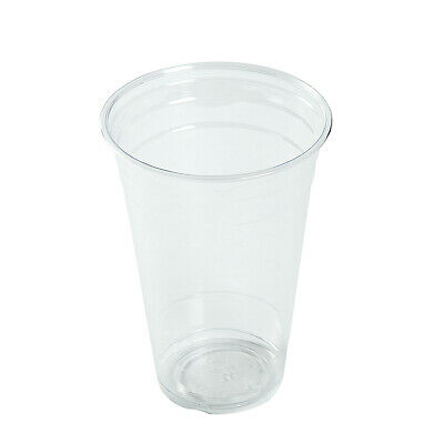 AmerCare 20 Oz Clear PET Cups, Case of 1000
