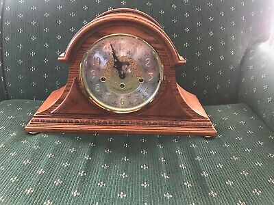 Howard Miller 76th Anniversary Mantle Clock W/Key. Works! Made In Germany