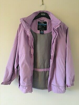 Kids Trespass Waterproof Windproof Raincoat Jacket, TP50, Girls Age 11/12, Lilac