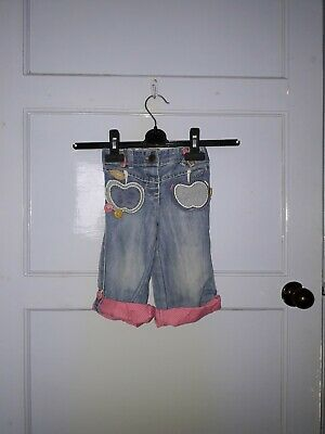 Girls Next Cropped Jeans Blue Multi Age 12 - 18 Months