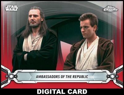 Topps Star Wars Card Trader CHROME LEGACY RED Wave 4 Ambassadors of Republic 25c