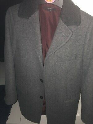 boys marks and spencer autograph coat age 8-9 grey in immaculate condition