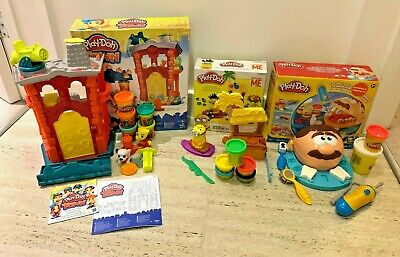 Bundle Play-Doh Sets Minions Paradise - Dr Drill n Fill Dentist - Town Firehouse