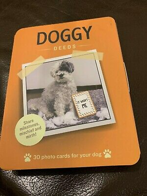 Marks & Spencer Doggy Deeds 30 Photo Cards For Your Dog - Brand New