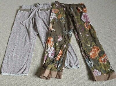 Joules Girl's Pyjama Bottoms Age 4 Floral 2 Pairs