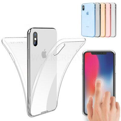 Full Housing 360° Front Back Clear Shockproof Case Cover for iPhone 7 8 6S PLUS
