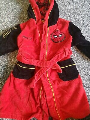 Boys spiderman dressing gown Age 5-6 Personalised Harry