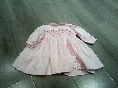 Girls Pink Corded Marks And Spencer Dress Age 3-6 Months