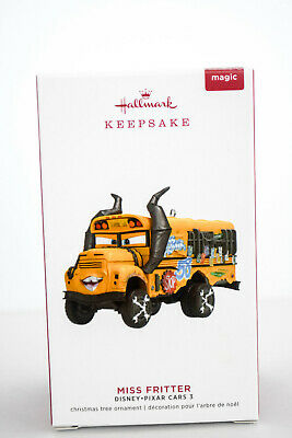 Hallmark  Miss Fritter  Disney Cars 3  Pixar  2019 Keepsake Ornament