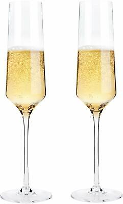 Hand Blown Crystal Champagne Flutes Bella Vino Champagne Glasses