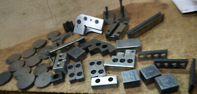 Pile Of Machinist Setup Tooling Fixtures Anvils  Stops Guide Keys Lot I1219X4