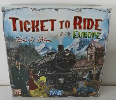 Ticket To Ride Europe Days of Wonder by Alan R. Moon New Free Shipping READ AD!