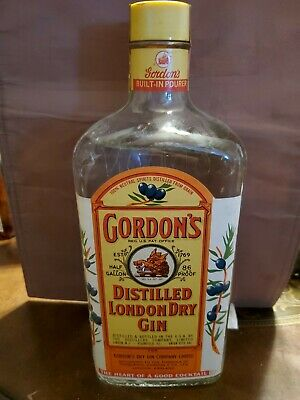 Gordon's Gin 1950's Sealed Collectible Bottle Vintage Distillery