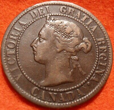 1893 High Grade CANADA LARGE CENT Victoria COIN CANADIAN.