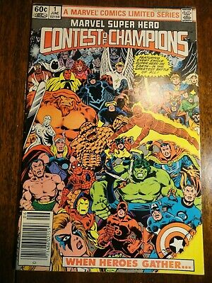 Marvel Super Hero Contest of Champions #1 Newsstand Variant F+ Avengers X-men