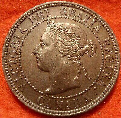 1899 AU-UNC High Grade CANADA LARGE CENT Victoria COIN CANADIAN.