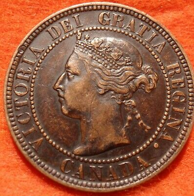1900 (NO-H) AU-UNC High Grade CANADA LARGE CENT Victoria COIN CANADIAN.
