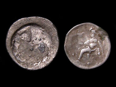 LOT OF 2pcs. CELTIC BARBAROUS  SILVER DRACHM, IN AS FOUND CONDITION+++