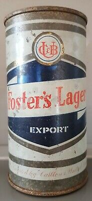FOSTERS FOSTER'S FLAT TOP SCROLL BEER CAN 13 1/3 fl oz SS EXPORT AUSTRALIA
