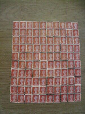 150 x 1ST CLASS & 100 x 2ND CLASS STAMPS UNFRANKED OFF PAPER NO GUM - FV £166.00