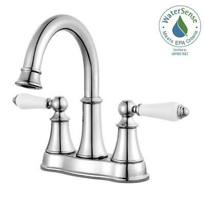Pfister Courant 4 in. Centerset 2-Handle Bathroom Faucet in Polished Chrome