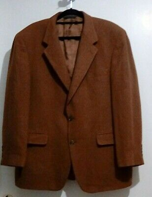 Brooks Brothers 43 R Men 100% Camel Hair Solid Brown Blazer Jacket Sport Coat