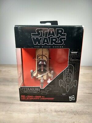 Star Wars Black Series Titanium Die Cast Vehicle 9 Luke Skywalker landspeeder