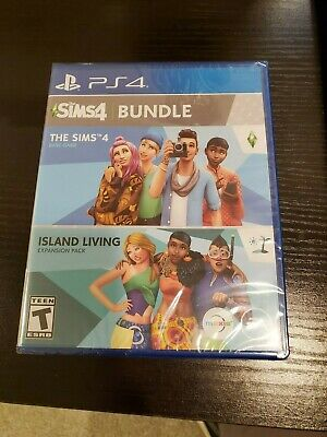 [NEW] [SEALED] The Sims 4 Base Game Plus Island Living Expansion Pack Bundle PS4