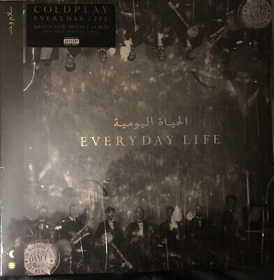 Coldplay ‎- Everyday Life 2 x LP 180 Gram Black Vinyl Album SEALED NEW RECORD