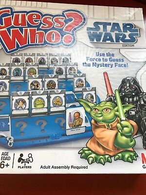 Star Wars Edition Guess Who? Game by Hasbro - 2008 Edition Incomplete