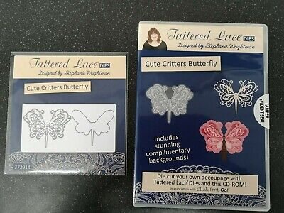 Tattered Lace Cute Critters Butterfly Die & CD ROM