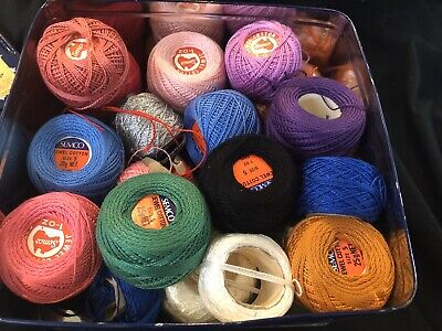 Bulk Semco Jewel Cotton - Approx 50 Vintage And New, Most Unused Many Colours