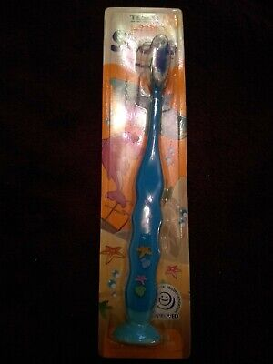 Blue Tesco Little Steps Toothbrush 3-5 Years With Sucker Stand Unopened