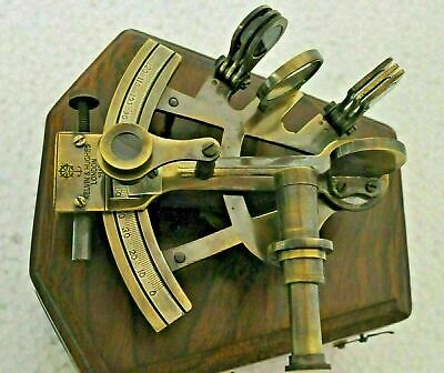 Marine Antique Kelvin & Hughes London Sailor Brass Nautical Sextant W/ Wood Box