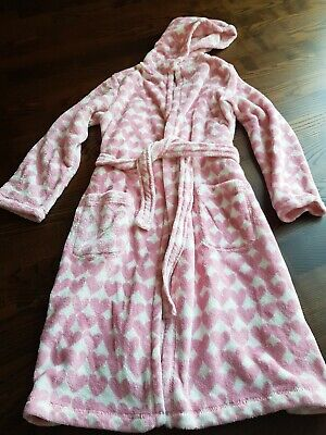 Girls Pink Heart Dressing Gown Age 10
