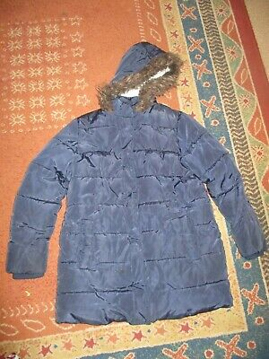MARKS&SPENCER GIRLS HOODED JACKET NAVY AGE 9-10YEARS HEIGHT 140cm,CHEST 72cm