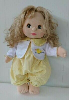 MATTEL My Child Doll, peachy, lovely luscious curls, in good condition for age