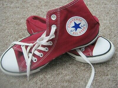 Converse All Star Maroon Canvas Chuck Taylor Hi Tops Size Uk 7 / Eu 40 Unisex