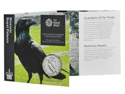 2019 UK £5 Coin Legend Of The Ravens Tower Of London Brilliant Uncirculated